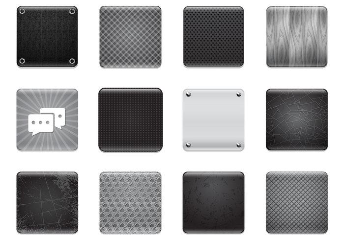 Black & Grey Apps Background PSD Set