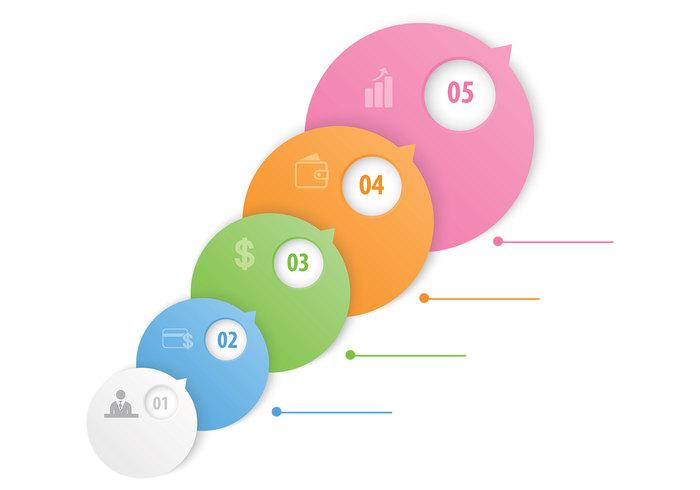 Bubble Option Steps Template PSD