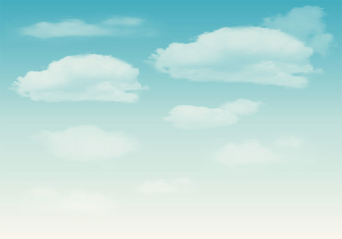 Clouds on Blue Sky PSD