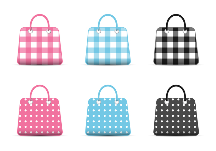 Girly Fashion Bag Icons PSD