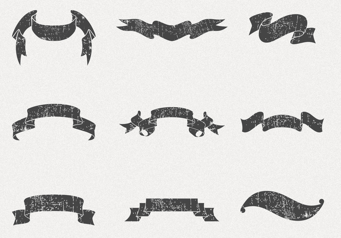 Grungy Ribbon Banners PSD Pack