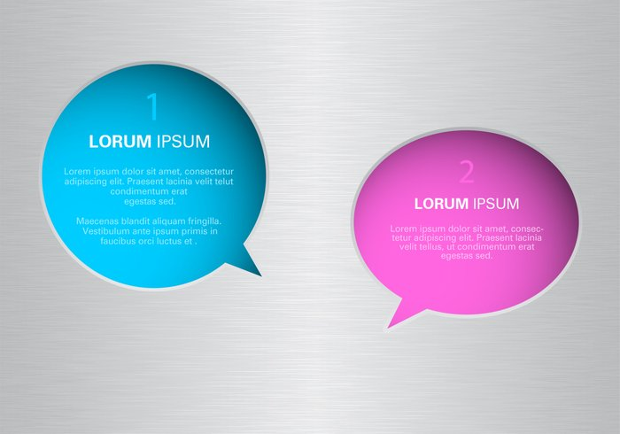 Speech Bubbles on Brushed Metal PSD Pack