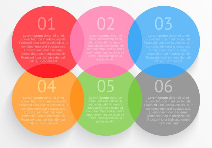 Plantilla de opciones circulares PSD