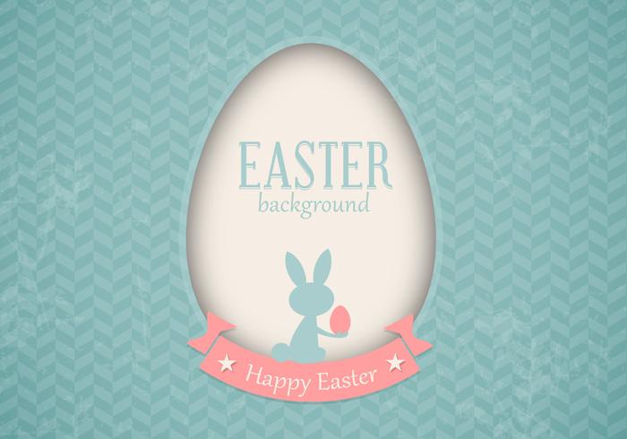 Retro Easter Card PSD