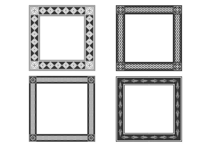 Decorative Bold Frames PSD Set