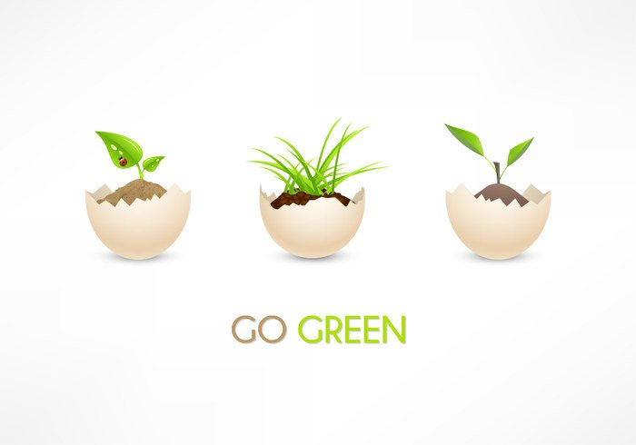 Eco Go Green Eggs PSD