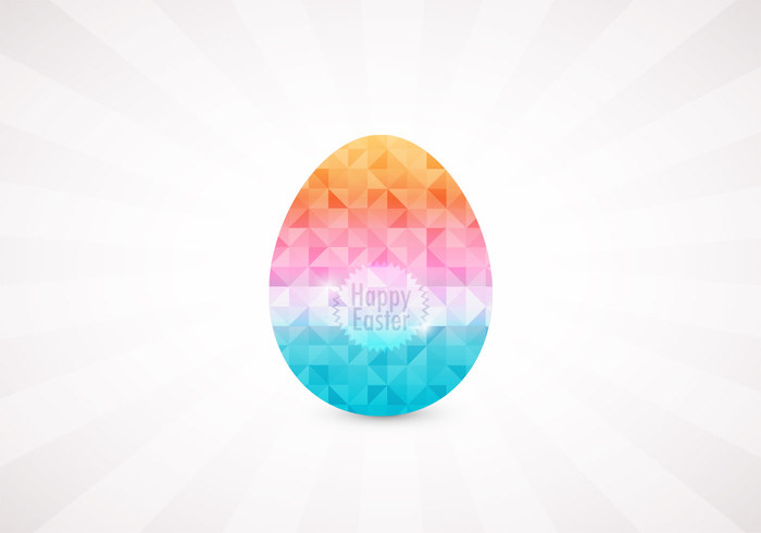 Geometric Diamond Easter Egg PSD