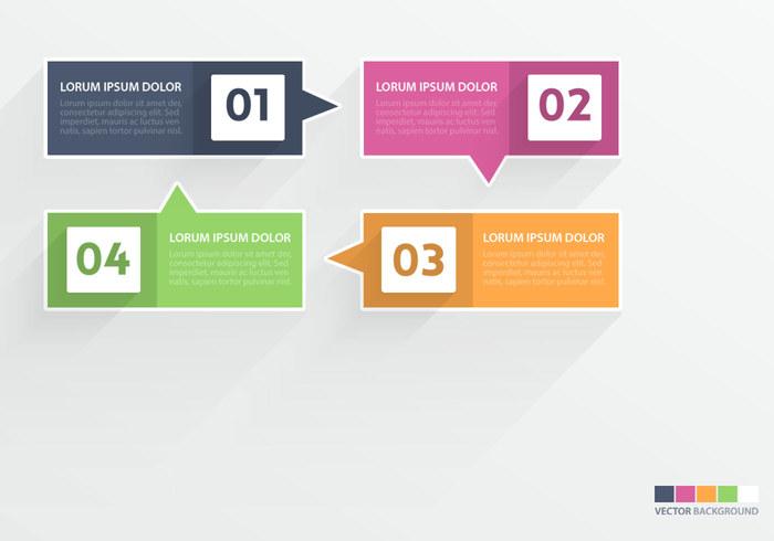Flat Speech Bubble Infographic PSD Set