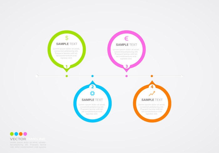 Horizontal Timeline Infographic PSD Template - Free Photoshop ...