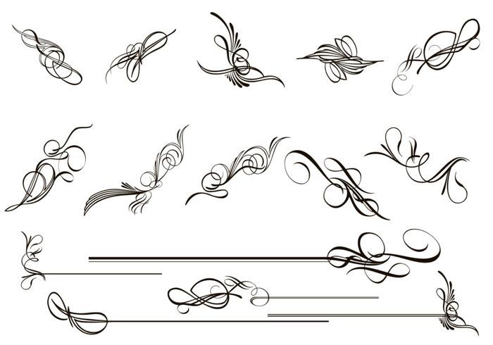Caligraf A Flourish Pinceles Paquete Pinceles De