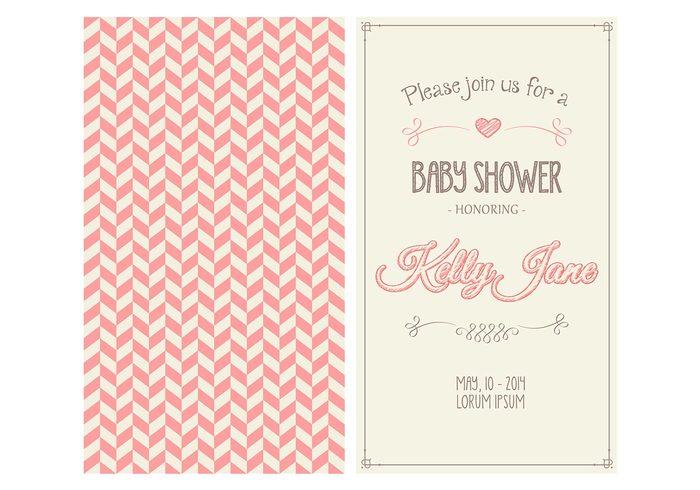 Baby Girl Shower Invitation PSD