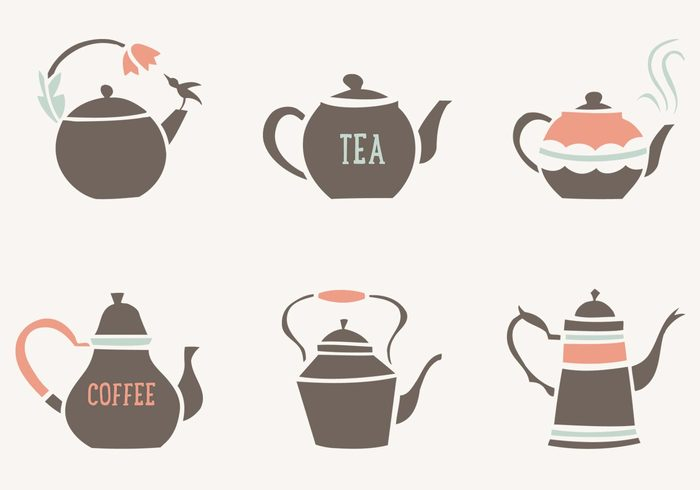 Decorative Tea and Coffee Pots PSD Collection