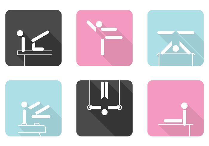 Gymnastics Icons PSD Set