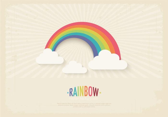 Retro Rainbow Background PSD