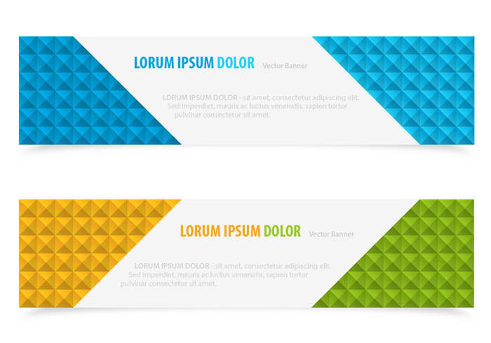 Bright Block PSD Banners