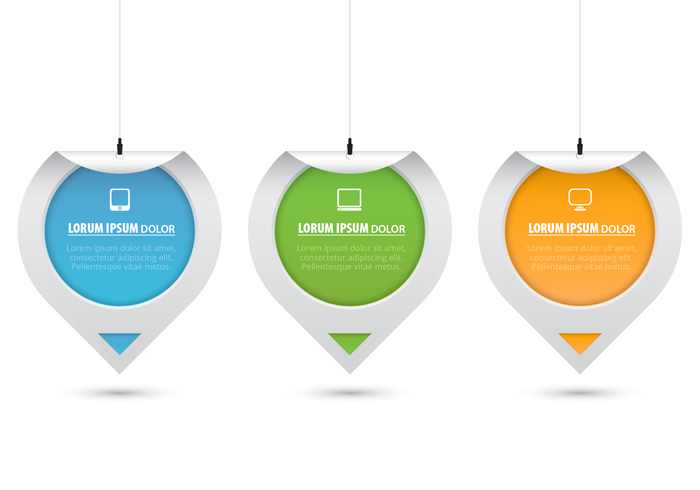 Hanging Curled Sticker Tags PSD Set
