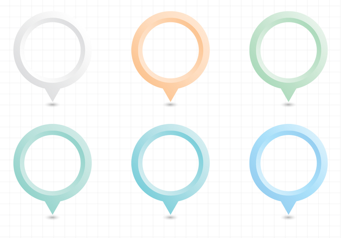Pastel Map Pointers PSD Pack