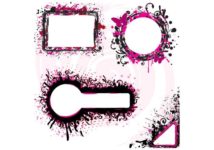 Grunge Splatter Banner PSD Pack