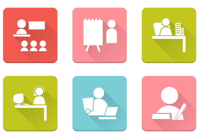 Business People Icons PSD Pack