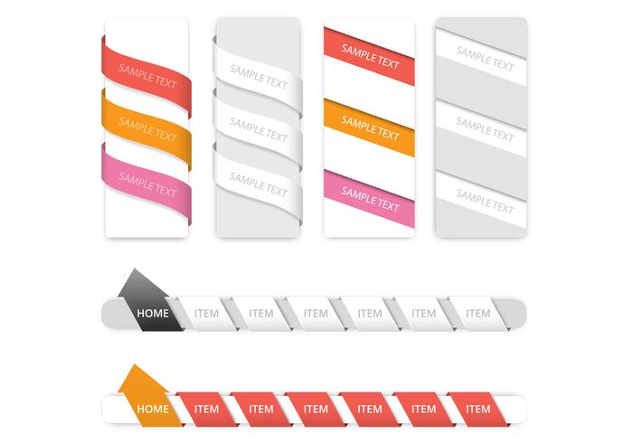 Creative Navigation PSD Set