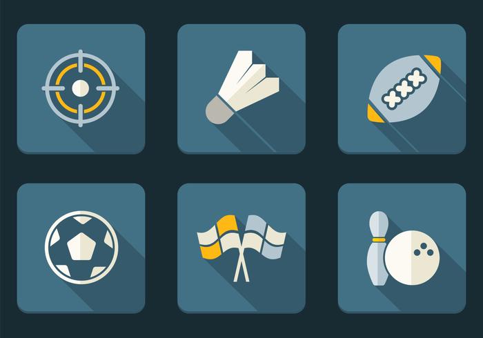 Flat Sport Icons PSD Set