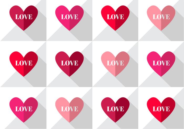 Love Hearts Pattern PSD