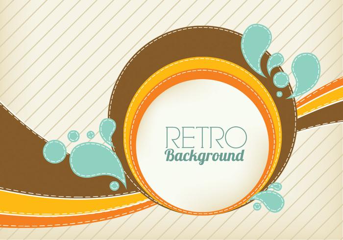 Retro Swirl Background PSD