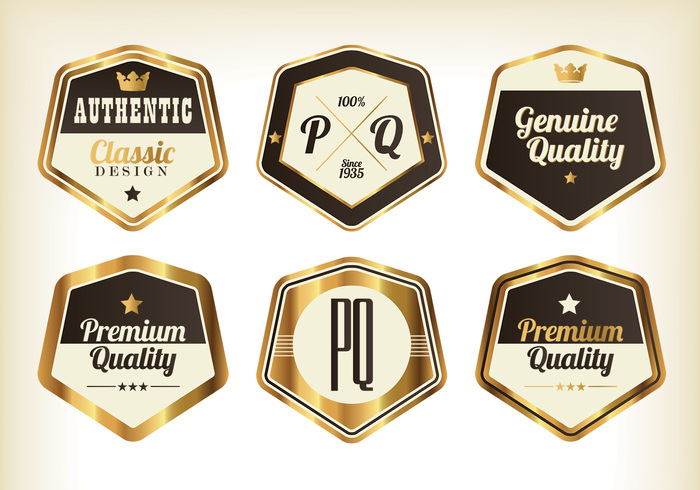 Gold Premium Badge PSD Pack