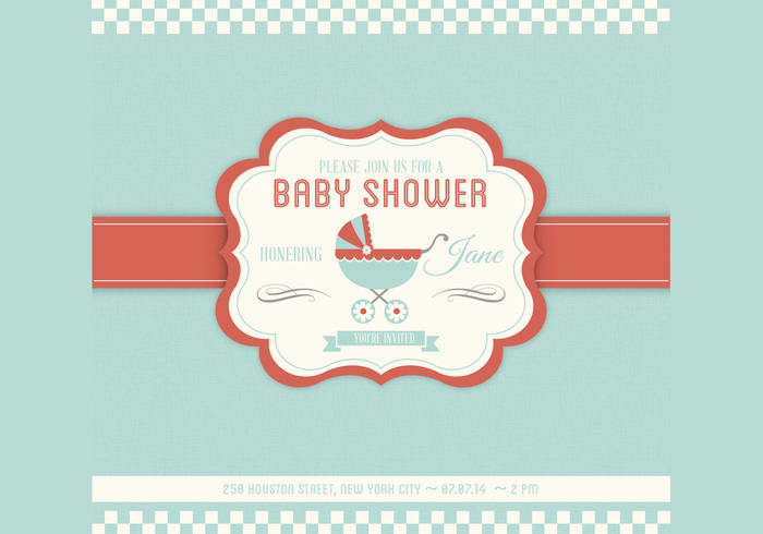 Baby Shower Templates Photoshop ~ Baby shower psd invitation template free photoshop