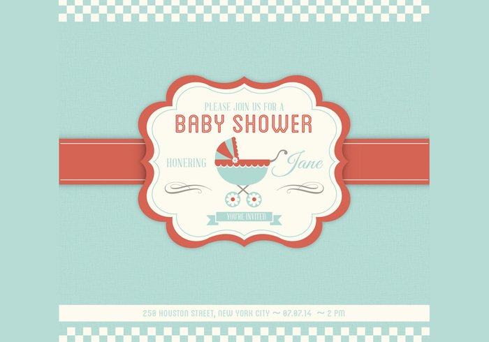 Baby Shower PSD Invitation Template Free Photoshop Brushes at – Free Baby Invitation Templates