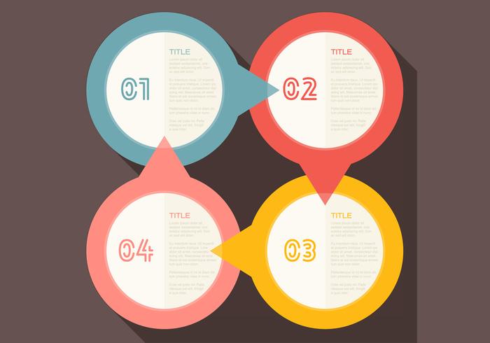 Four Steps Infographic PSD