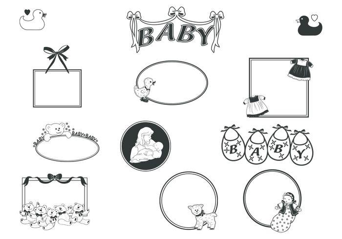 retro baby frames brushes