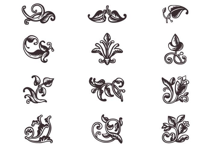 Swirly Scroll Ornaments Brushes