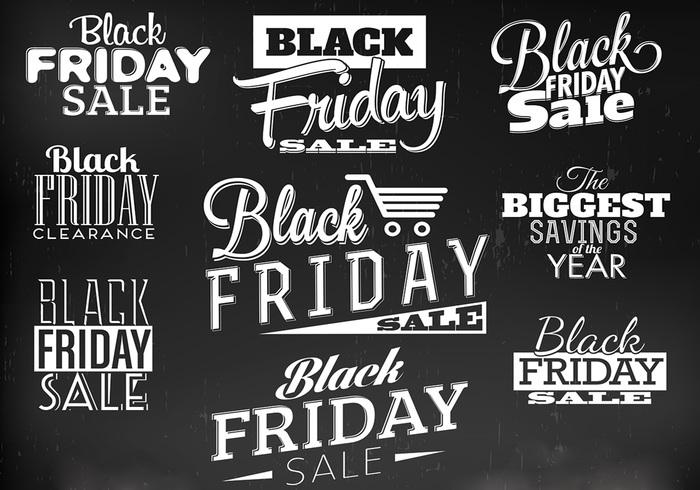 Black Friday Label PSD Pack