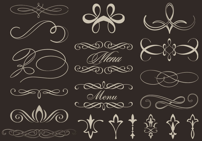 Calligraphic Ornament Brushes And Psd Pack Free