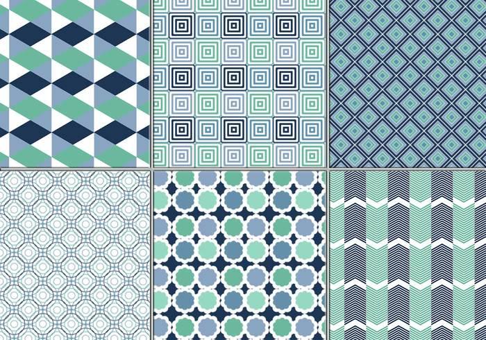 Blaues Geometrisches Musterpaket
