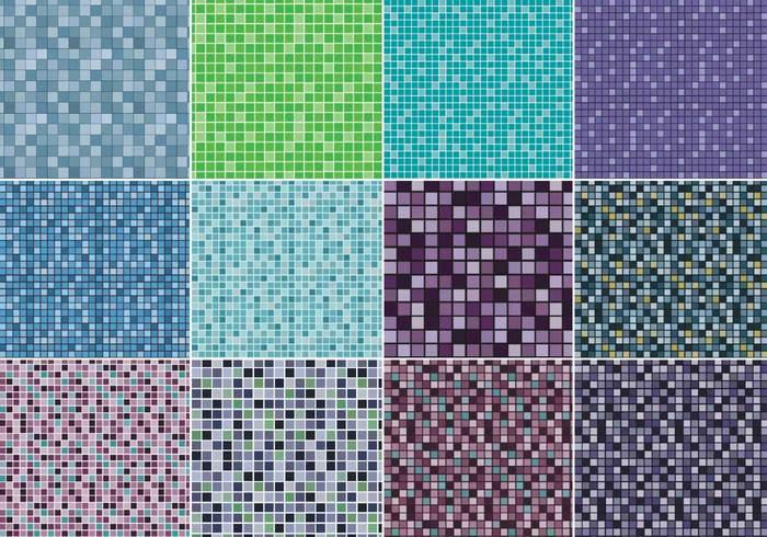 Paquet de motifs géométriques en pixels