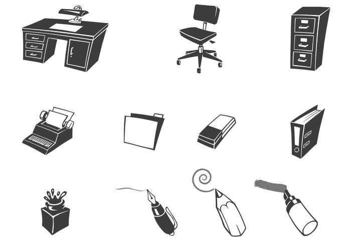 Retro Desk Office Brushes