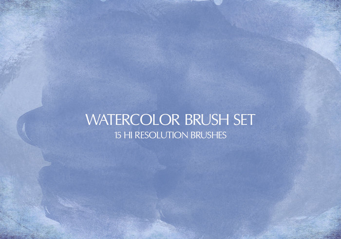 15 Watercolor Brushes