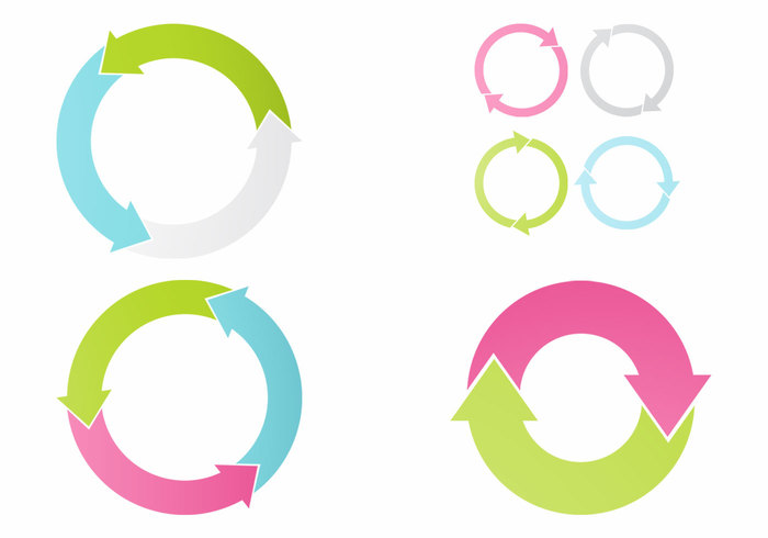 Circular Arrows PSD Set