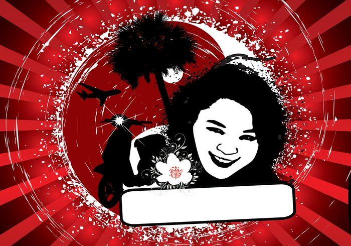 Oriental Sunburst PSD Background