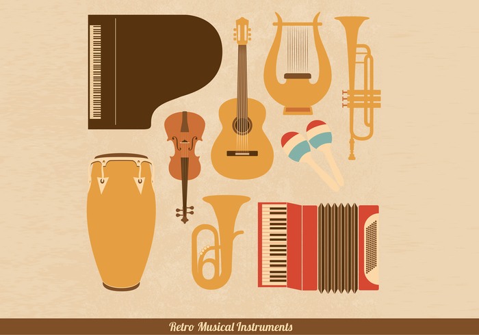 Retro Musical Instrument PSD