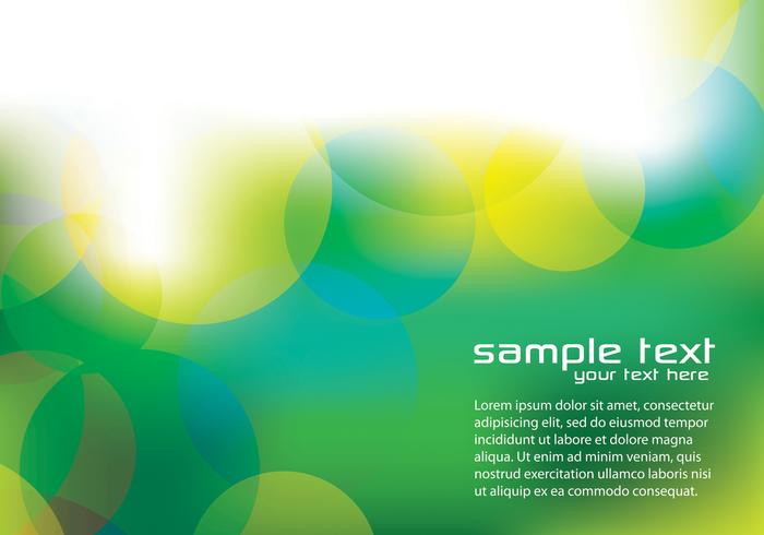 Green Bokeh Background PSD