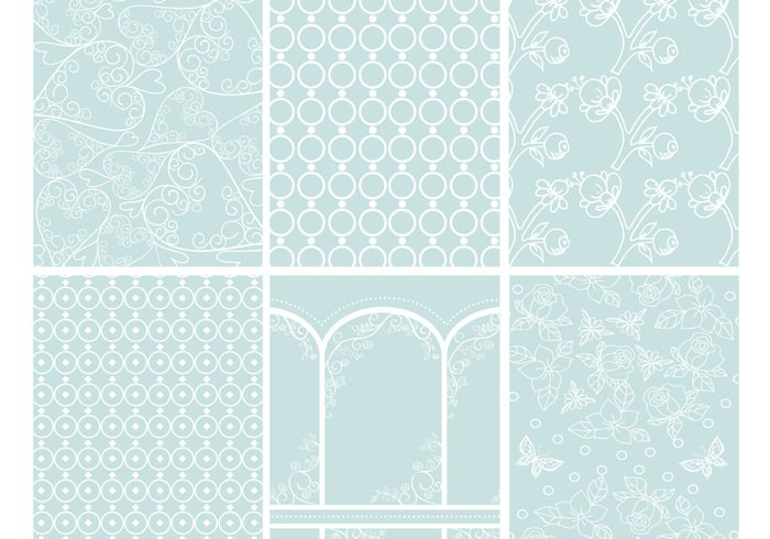 Romantic Patterns Backgrounds PSD Pack