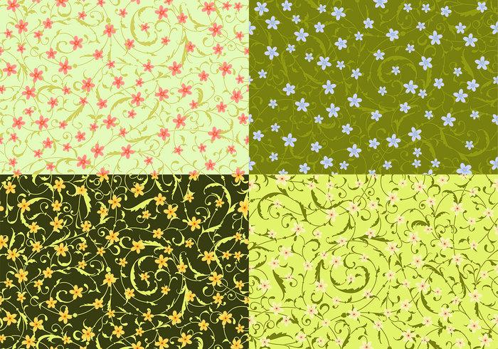 Swirly Floral Patterns