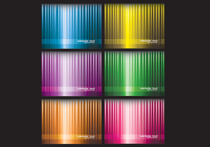 Bright Striped Background PSD Pack