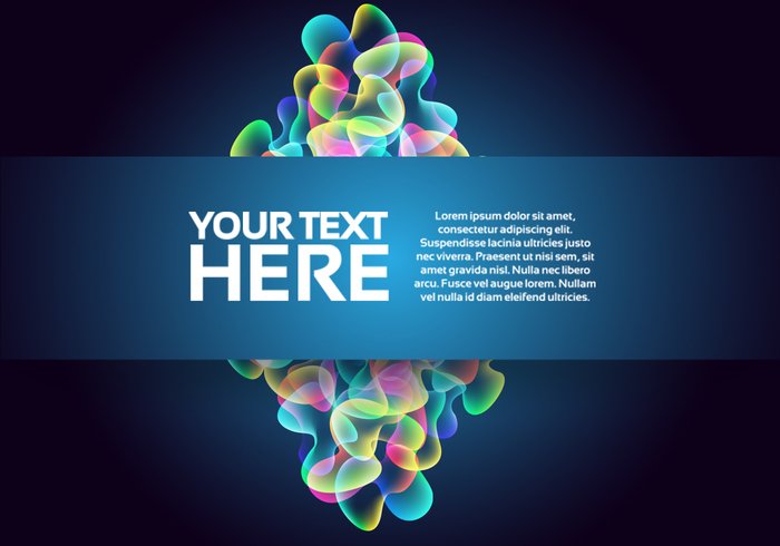 Glowing Abstract Bubble Background PSD