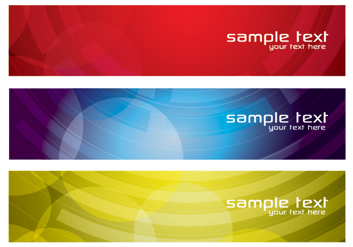 Colorful Abstract Banners PSD Set Two