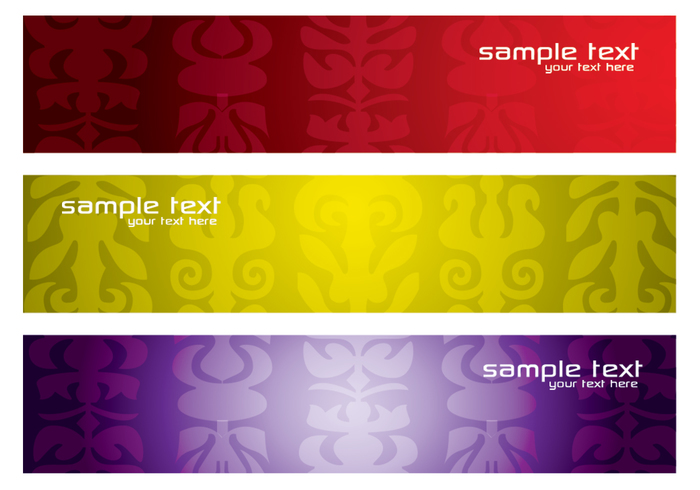 Colorful Patterned Banners PSD Pack