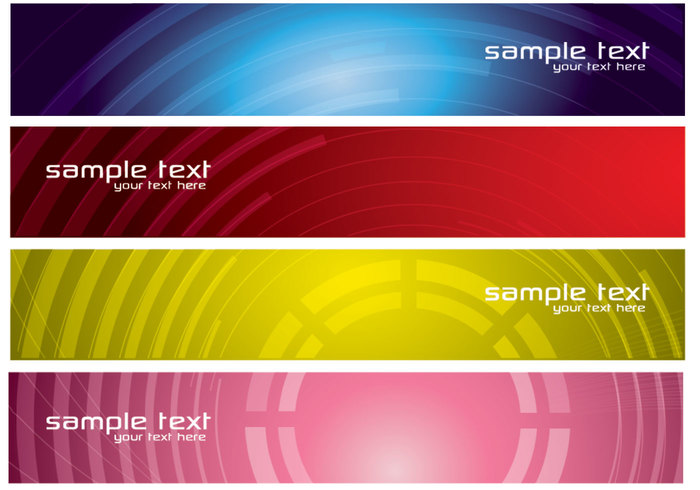 Abstract Tech Banners PSD Pack